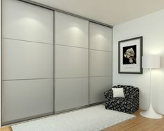 ΣΥΡΟΜΕΝΗ Interior Sliding French Doors, Modern Sliding Doors, Sliding Wardrobe Doors, Bedroom Closet Design, Bedroom Wardrobe, Wardrobe Closet, Wardrobe Door Designs, Harris House, Bedroom Cupboards