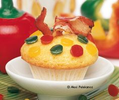 Paprika-Muffins mit Speck Muffins, Desserts, Food, Red Peppers, Dessert Ideas, Cooking, Food Food, Recipies, Tailgate Desserts