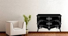 Chest of Drawers removable wall tattoos