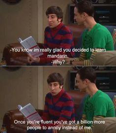 Sheldon learning mandarin