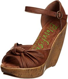 4d8af6b724f Blowfish Women s Ricky Whiskey Wedges Heels BF2136 4 UK  Amazon.co.uk