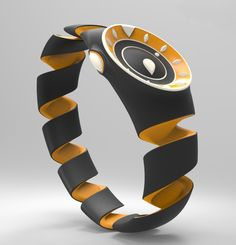 Nike Citrus - Sport Watch by Jacob Rynkiewicz - Conceived for use by the blind but stylish enough to appeal to a broader market, the Nike Citrus watch's spiral form stretches to fit any wrist size and hints to its zesty inspiration: an orange peel twist. | Yanko Design