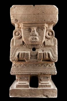 Chalchiuhtlicue (was an Aztec goddess of water, rivers, seas, streams, storms, and baptism, related to another water god, Chalchiuhtlatonal) - Museo Nacional de Antropología