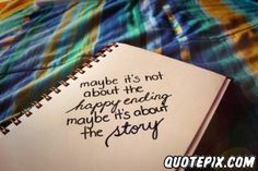 it's about the story