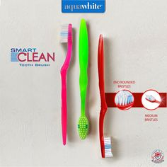 aquawhite Active Clean Toothbrush and get Tongue Cleaner worth Medium Bristles, Pack of 4 (Colour may vary), Health & Personal Care Favorite Cartoon Character, Teeth Cleaning, Cartoon Characters, Range, Personal Care, India, Gallery, Kids, Color