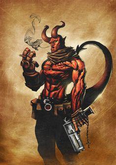 Hellboy - by BrianFajardo↩☾それはすぐに私は行くべきである。 ∑(O_O;) ☕ upload is LG G5/2016.08.17 with ☯''地獄のテロリスト''☯ (о゚д゚о)♂