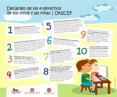 Los e-derechos de los niños y las niñas #UNICEF #awareness