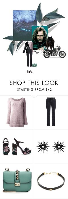 """Беспечный ангел"" by anya-moscow ❤ liked on Polyvore featuring Roberto Collina, M.i.h Jeans, Sirius, Christina Debs, Valentino, Jacquie Aiche, Color, set, look and fashionset"