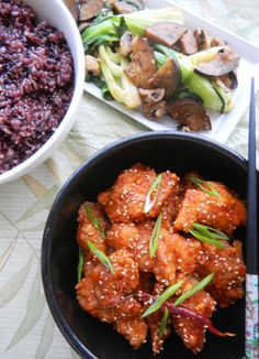 Skip take out and make your own General Tso's chicken: sweet and sour crispy fried chicken.