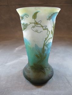 Antique French Emille Galle cameo glass vase :
