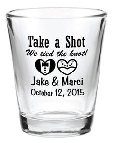Fabulous Wedding Favors that Your Guests will Adore!:   Custom Shot Glass Favor