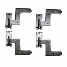 6 Wrought Iron Shutter Lift Off Pintle Hinges Reversible For Gates Doors And Shutters Mounting Screws Included Set Of 2 Pairs Bermuda Shutters, White Shutters, Window Shutters, Custom Baby Gates, Shutter Dogs, Shutter Hinges, Brass Hinges, Window Hardware, Flat Head