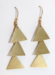 Cascading Triangles Earrings