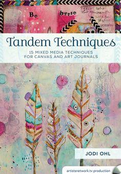 Jodi Ohl's Colorful Canvas Exploration | InterweaveStore.com #artjournal #mixedmedia #art #creativity #canvas