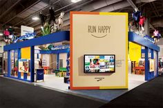 The playful exhibit for Brooks Sports by Pinnacle Exhibits for the 2013 Outdoor Retailer Winter Market in Salt Lake City had a team of mecha... Photo: Raul J. Garcia Photography