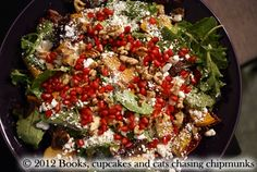 """Roasted Butternut Squash, Apple, and Pomegranate Salad  """"True Food: Seasonal, Sustainable, Simple, Pure"""" Recipe Book – A Review"""