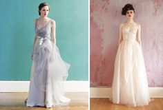 Wedding Dress Trends 2013: Looks like we'll be seeing splashes of colour in bridal collections next year- mostly blush pinks and blue, with the odd scarlet creation.