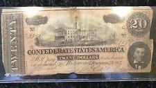 1864-C CSA 20 Dollar Note 2/17/1864 - Free Shipping!
