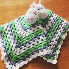 Moomin crochet security blanket More Moomin crochet security blanket Crochet Security Blanket, Crochet Lovey, Baby Security Blanket, Crochet Bunny, Crochet Blanket Patterns, Baby Blanket Crochet, Crochet Ideas, Les Moomins, Bunny Blanket