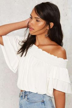 Nasty Gal All About U Off-the-Shoulder Crop Top | Shop Clothes at Nasty Gal!