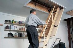 How to install pull-down attic stairs. | Photo:  | thisoldhouse.com