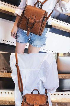 Elegante bolsa de mensajero pequeña de cuero multifunción de cuero Bolsa de  hombro Mini mochila c088ab6826