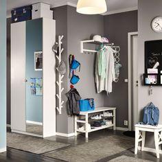 Meuble chaussures blanc laqu nora 2 portes for Ikea miroir a coller