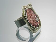 sterling, glitter and resin