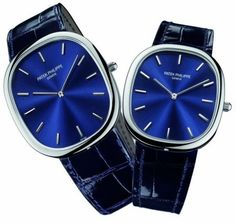 Patek Philippe ... it's like wearing a car on your wrist! (I've always loved watches with blue faces)