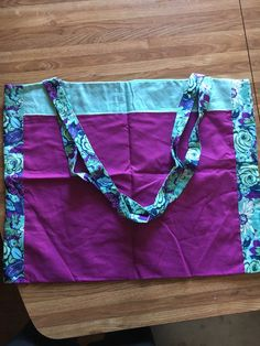 A personal favorite from my Etsy shop https://www.etsy.com/listing/267323050/purple-with-blue-flowers-tote