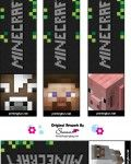 Minecraft printables--- bookmarks, stickers, stationery,...