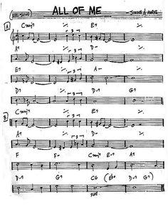Sheet (standard) Trumpet Sheet Music, Jazz Sheet Music, Jazz Trumpet, Jazz Guitar Lessons, Music Lessons, Song Lyrics And Chords, Music Theory Guitar, Jazz Songs, Jazz Standard
