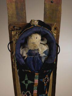 Kiowa toy cradle, detail