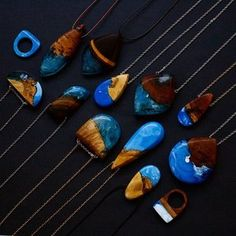 Just finished a batch of pieces made from a mixture of blue and white resin 😊 These are now on BoldB.etsy.com  #boldb #pendant #necklace #blue #wood #jewellery #jewelry #wooden #woodjewelry #fashion #accessories #love #melbourne #australia #madeinmelbourne #madeinaustralia #nature #natural #handmade #resin #bluejewelry