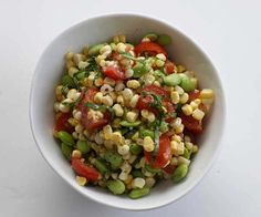 Toasted Corn, Cherry Tomato, and Edamame Salad by Fine Cooking