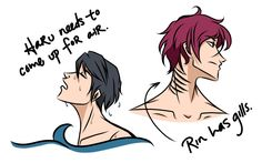 """Askblog 04 by Fayolinn on deviantART Question: """"do either of you have gills, or do you breathe air?"""""""