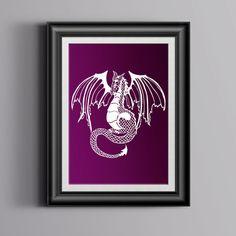 Papercut Dragon Original-fait à la main papercut - art conte de fées - papercut art ~ fantasy art - design papercut ~ vendeur Royaume-Uni