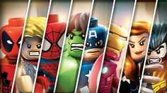 Lego Marvel Poster GIANT Tiled Poster by AmazingPosterDesigns