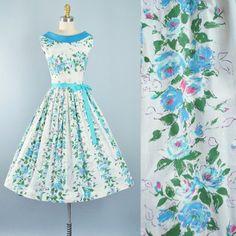 Vintage 50s Dress / 1950s Cotton Sundress Mint by GeronimoVintage