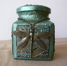 Altered Jar; this is a nice example of a jar readily acquired in a kitchen