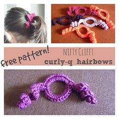 Crochet Curly Q Hair Ties : + images about Crochet It -- Hair Accessories on Pinterest Crochet ...
