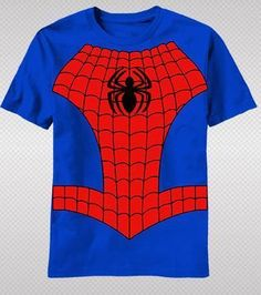 NEW Marvel Spider-Man Spidey Costume Logo Hero Body Suit Youth T-shirt top tee Youth Sizes: S, M, L, XL