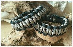 """Paracord bracelet Black and camo """"Desert Cobra"""""""