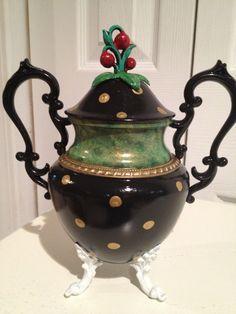 Custom Painted 3 piece Silver Tea Set Tea by paintingbymichele