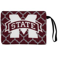 Mississippi State Bulldogs Quatrefoil Stadium Cushion