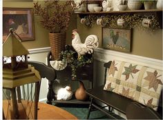 Fall dining room - umbrella basket