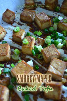 Smokey Maple Baked Tofu