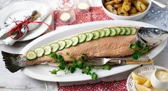 CHRISTMAS PARTY - Easy Christmas Party Food Ideas -  Whole Poached Salmon - Click Pic for 20 Delicious Holiday Appetizer Recipes