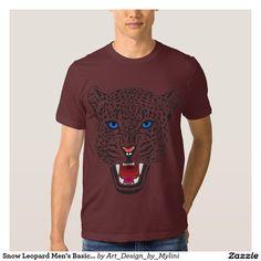 Snow Leopard Men's Basic American Apparel T-Shirt