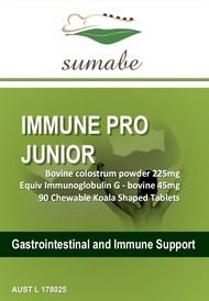Sumabe Immune Pro Junior, bovine colostrum 225mg, 90 Tablets